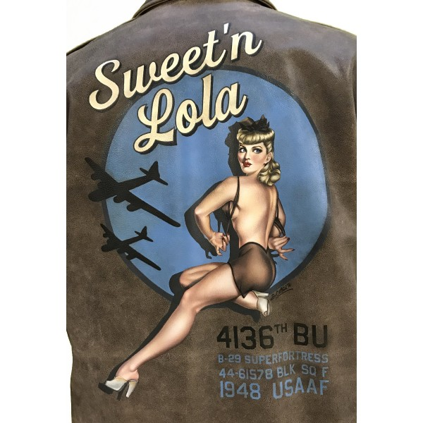 "GIUBBINO ""AVIATOR"" - Nose Art ""Sweet'n Lola"""