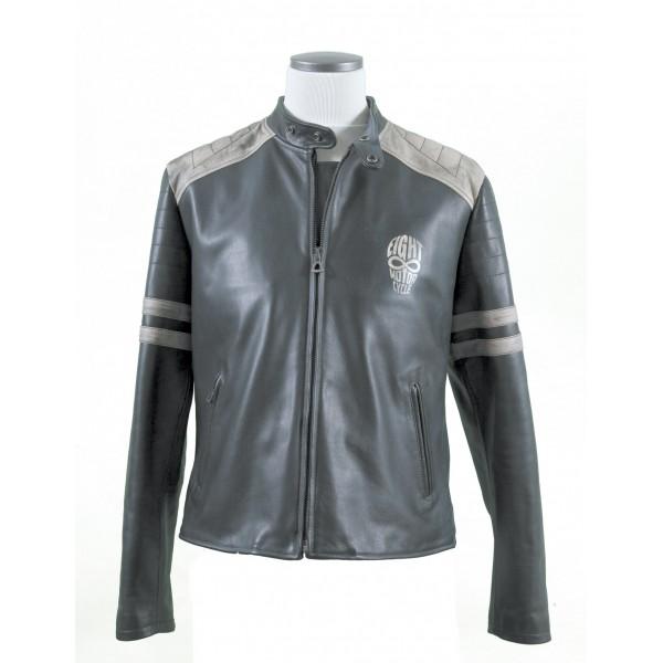 "EIGHT Leather Jacket mod. ""Biker Black & ..."