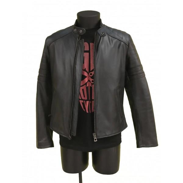 "EIGHT Leather Jacket mod. ""Biker Black"""