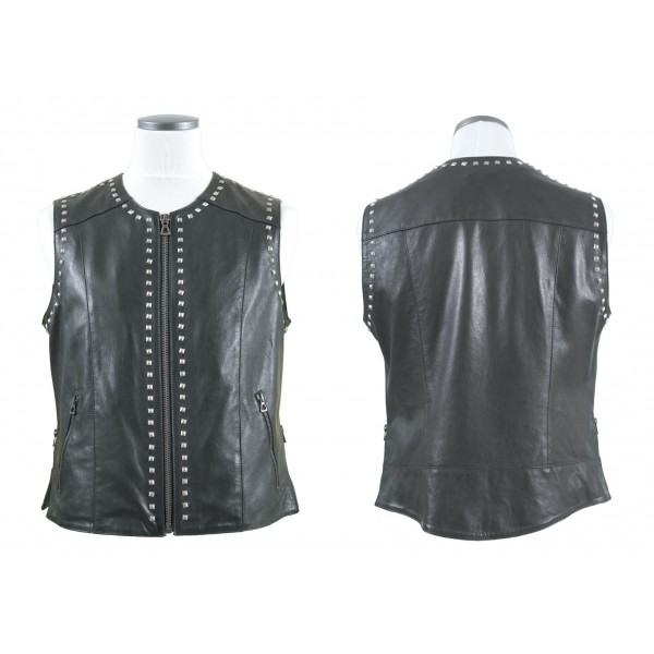 "EIGHT leather ""ROCKER GILET"""