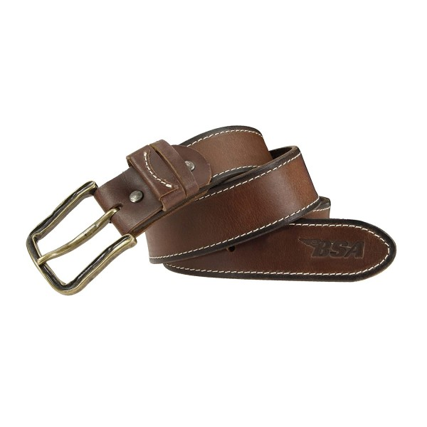BSA Cintura in cuoio marrone