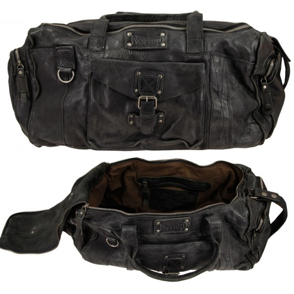 "NORTON  leather ""Satchel Bag"" - Black"