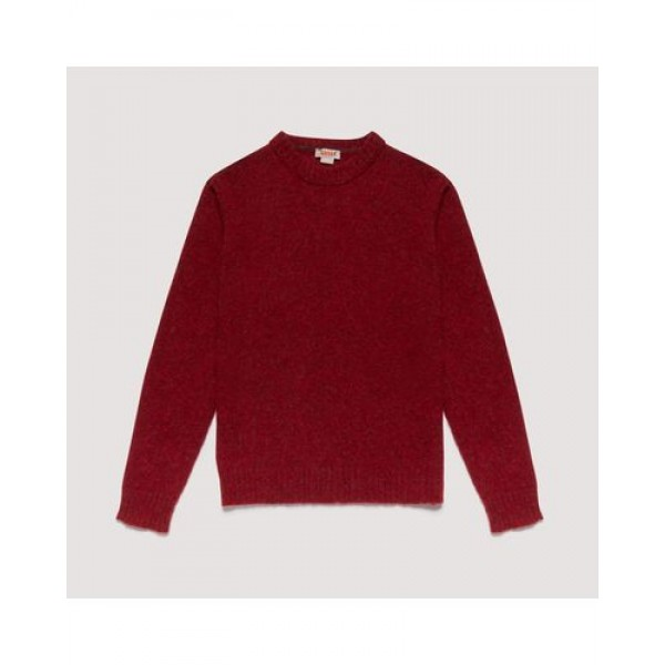 MAGLIONE SHETLAND CREW NECK SOFT WOOL KNIT FOREST